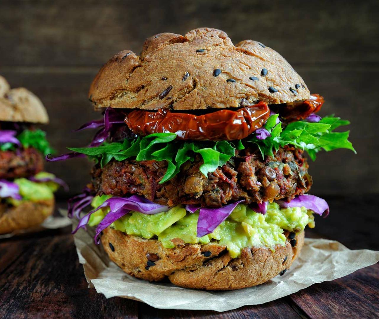 Vegan burger night