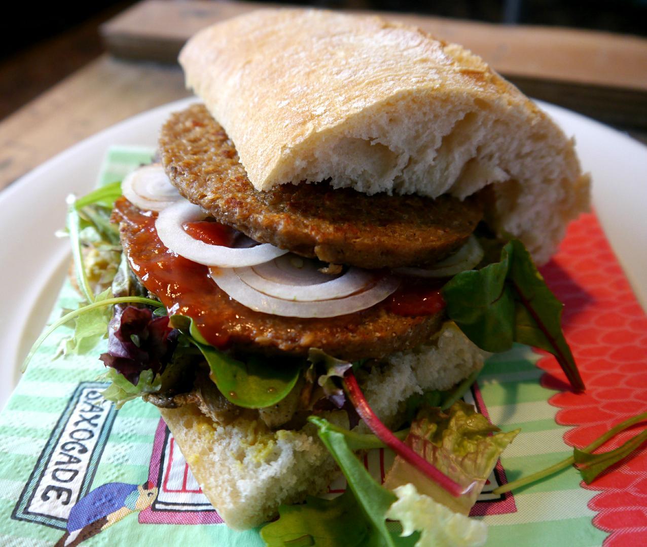 Broodje hamburger vegan